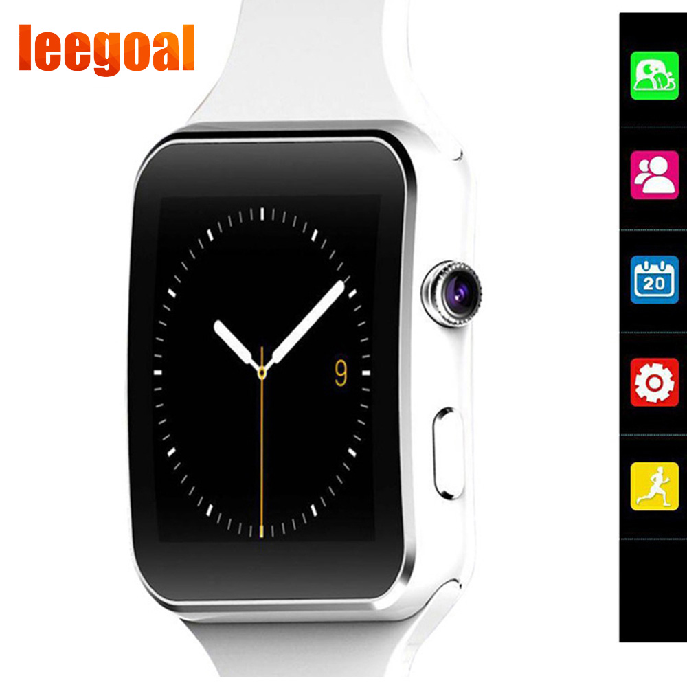 X6 Bluetooth Smart Watch with Screen Support SIM TF Card Camera Touch Smart watch for iPhone Xiaomi Android Phone