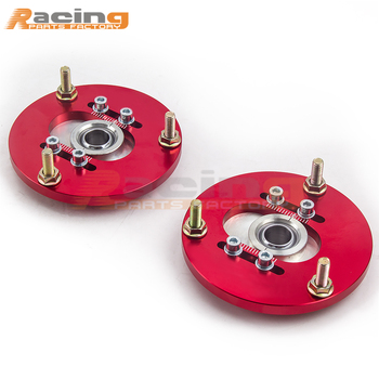 2pc REAR PILLOW BALL PLATES Camber Plate Set for BMW E30 E36 E46 Z3 Top Mount image