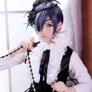 521d7b639 Anime Black Butler Ciel Phantomhive Dark lily black Circus Dressing Full set-in  Cosplay Costume