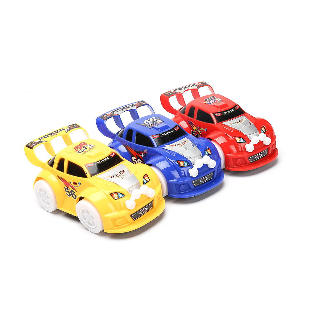 1pc Universal Turning Plastic Cute Flashing Glow Music Racing Cars for Children Boys Electric Kids Toys Car Model Birthday Gifts