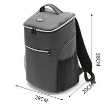20L 600D Оксфорд большая сумка-холодильник термо Ланч пикник коробка изолированный крутой рюкзак лед пакет свежий Перевозчик термо сумки через плечо
