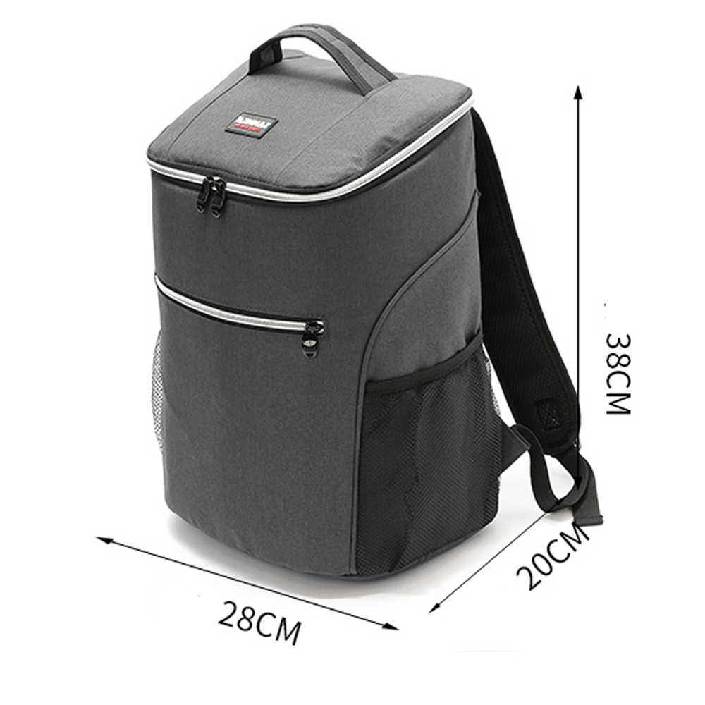 20L 600D Oxford Grote Koeltas Thermo Lunch Picknick Box Geïsoleerde Cool Rugzak Ijs Verse Carrier Thermische Schoudertassen
