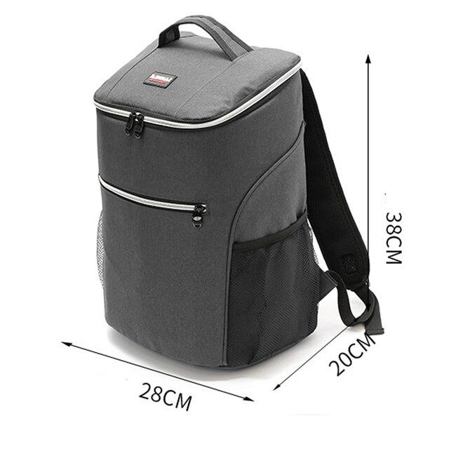 20L 600D أكسفورد حقيبة للحفاظ على البرودة الحرارية الغداء نزهة صندوق معزول حقيبة ظهر باردة الجليد حزمة الطازجة الناقل حقائب كتف الحرارية