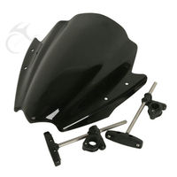Universal Windshield Windscreen 7 8 1 Handlebar Mount For Motorcycle Harley BMW Ducati Honda