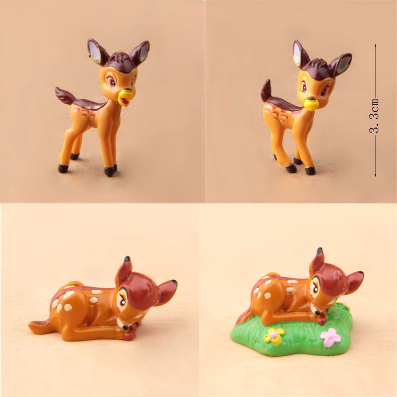Figuras de Bambi Mini, 4 estilos, versión Q, figuras de acción de PVC de Bambi, modelo de juguete de colección para decoración del hogar, regalo de cumpleaños o de Navidad