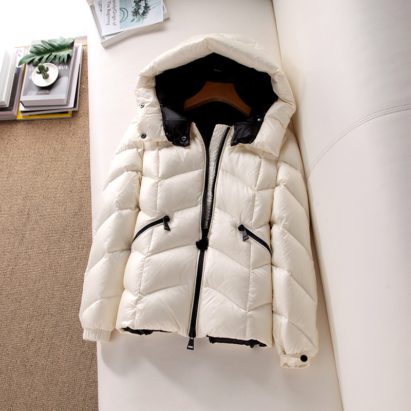 Women 39 s Winter Solid Color Down Jacket For Girls 2019 New Hooded Light And Thin Fashion Coat Female Basic Puffer Jacket HJ170 in Down Coats from Women 39 s Clothing