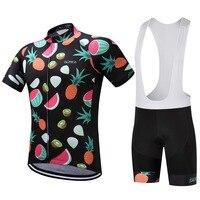 2017 SUREA Pro Team Summer Fruits Quick Dry Bike Cycling Short Jerseys Gel Bib Short Ropa