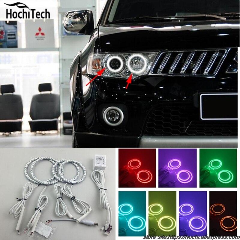 for Mitsubishi Challenger Montero Sport RGB LED headlight halo angel eyes kit car styling accessories 2008 - 2016 цена