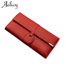 Aelicy Luxury Leather Wallets Women Brand Purses Woman Walle