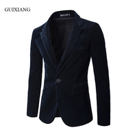 2017 new foreign trade autumn and winter style men corduroy suit balzers fashion casual solid slim single button suit jacket