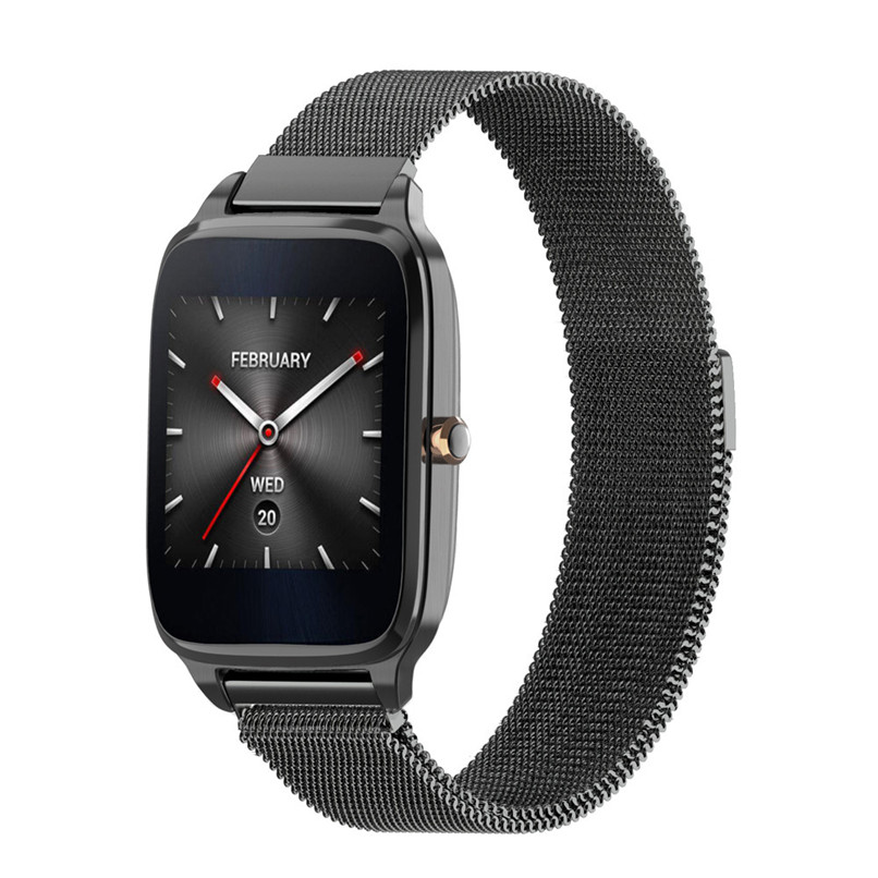 New Arrivals 2017 Milanese Magnetic Loop Stainless Steel Band Strap Bracelet For ASUS ZenWatch 2 Mar27 asus zenwatch 2 wi501q smartwatch