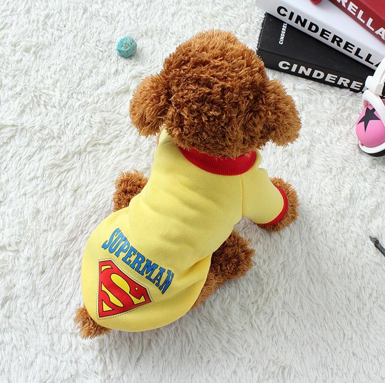 Pet Dog Puppy Cotton Superman Pakaian, Halloween Pakaian Kostum - Produk hewan peliharaan - Foto 2