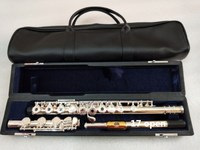 Флейта высокого качества флейта YFL 371H Серебряная флейта C tune 17 Открытый Золотой мундштук, музыкальные инструменты E клавишная флейта професс