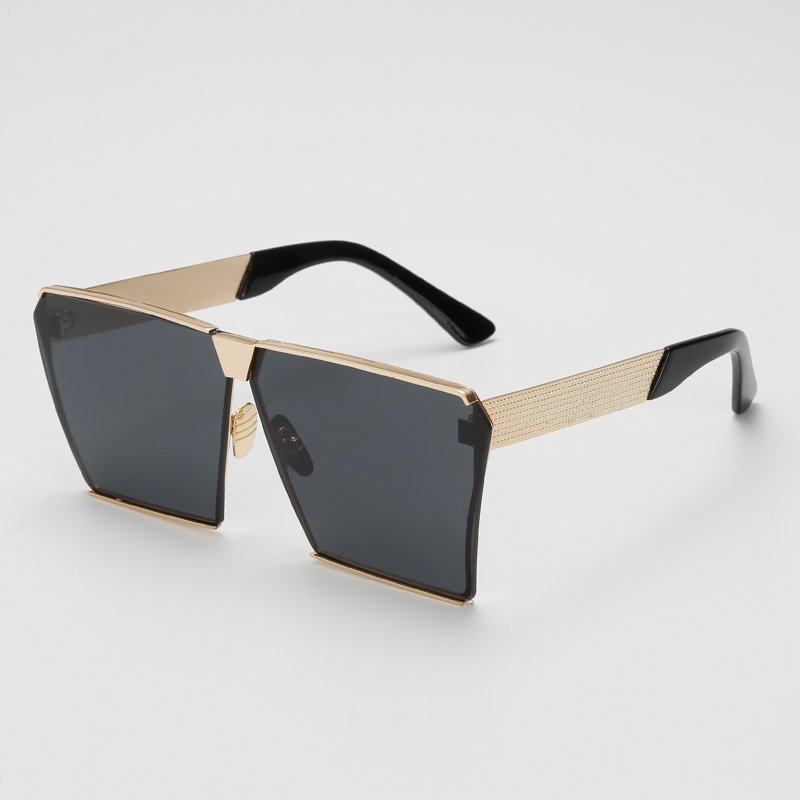 a6378576314 Dropwow AFOFOO Fashion Oversized Sunglasses Metal Frame Square ...