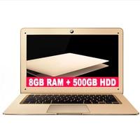 ZEUSLAP 8GB Ram 500gb HDD Intel Quad Core CPU Windows10 System 14inch 1920*1080P Full HD IPS Screen Laptop Notebook Computer