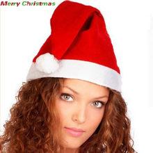 b2237b2309df2 1 pc 2018 Super Deal Christmas Caps Thick Ultra Soft Plush Santa Claus  Holidays Fancy Dress Hats Fashionable Design Cap