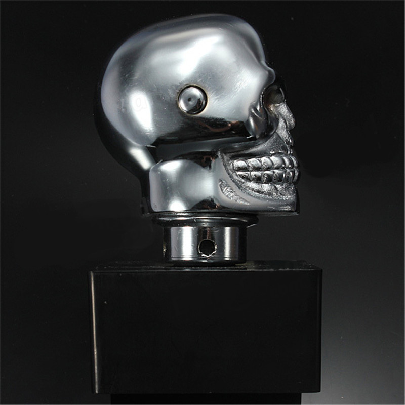 Image 5 - KOWELL Universal Led Eyes Skull Car Chrome Manual Transmission Gear Shift Knob for Volkswagen VW Golf for Lada for KIA for Ford-in Gear Shift Knob from Automobiles & Motorcycles