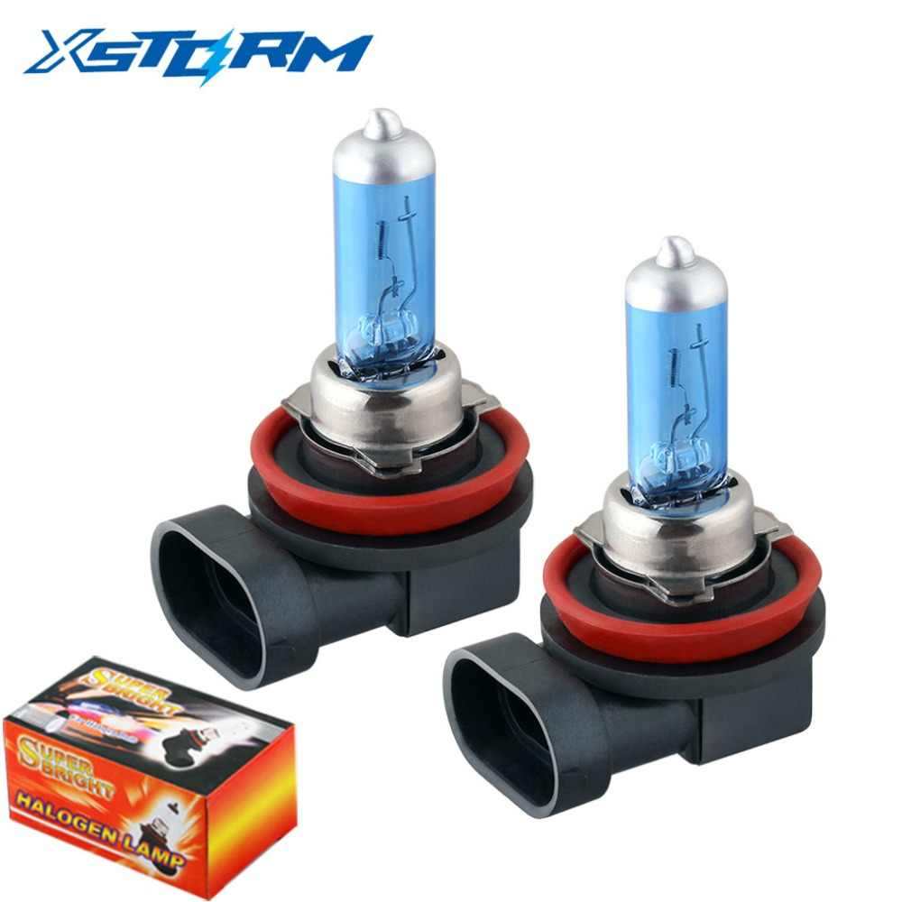 2pcs H8 35W Halogen Bulbs super bright white Car Headlights lamps fog light Car Light Source car styling parking 12V