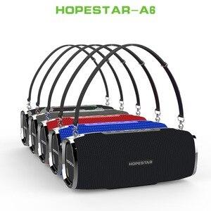 Image 1 - HOPESTAR A6 سمّاعات بلوتوث 35W الثقيلة باس العمود مضخم المحمولة اللاسلكية مكبر الصوت ستيريو للماء مع قوة البنك