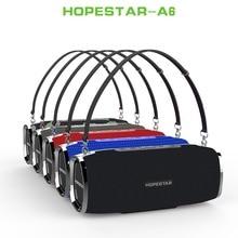Hopestar caixa de som a6, bluetooth, 35w, grave pesado, coluna, subwoofer, portátil, wireless, alto falante estéreo à prova d água, com carregador de bateria
