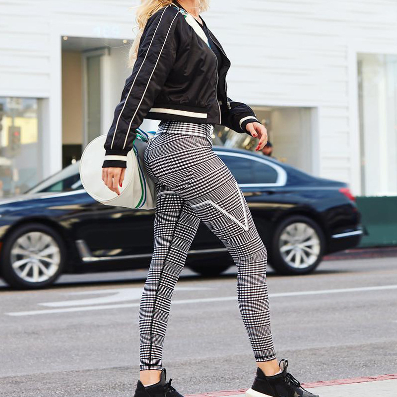Yoga Pants Sports Exercise Tights Fitness Running Jogging Trousers Gym Slim Compression Pants Leggings Sexy Hips Push Up