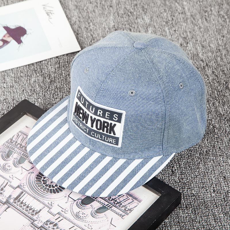 d665ba26270 2018 New hat Korean men and women striped dome baseball caps Labeled letters  hip hop cap casual outdoor sun hats Snapback caps-in Baseball Caps from  Apparel ...