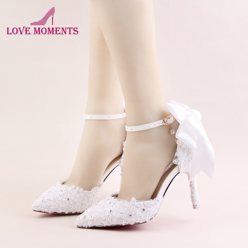 Newest Buckle Strap 9cm And 14cm Heels Bridal Wedding Shoes Lace Flower Rhinestone Party Prom Platform Banquet High-Heel cinderella high heels crystal wedding shoes 14cm thin heel rhinestone bridal shoes round toe formal occasion prom shoes
