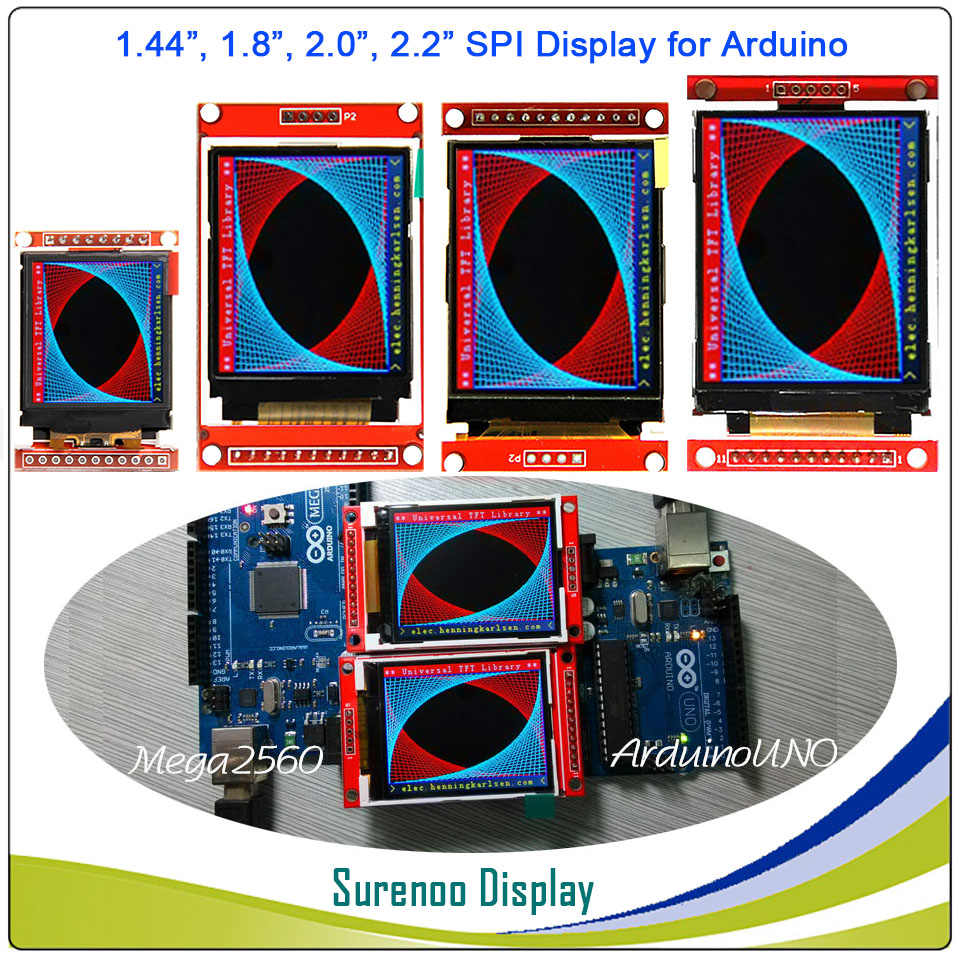 1.44, 1.8, 2.0, 2.2 inch Serial SPI TFT LCD Display Module Screen ST7735S ILI9225G Drive Board For Arduino / STM32 / 51/ AVR