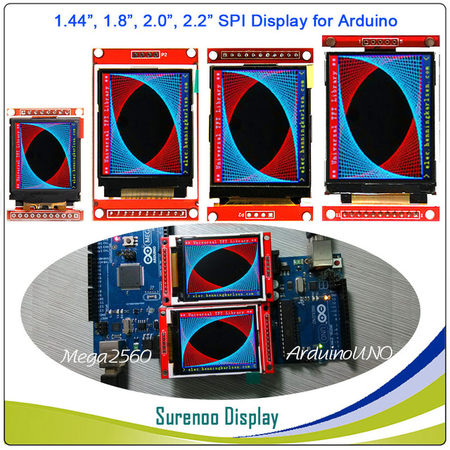 US $3 38 |1 44, 1 8, 2 0, 2 2 inch Serial SPI TFT LCD Display Module Screen  ST7735S ILI9225G Drive Board For Arduino / STM32 / 51/ AVR-in LCD Modules