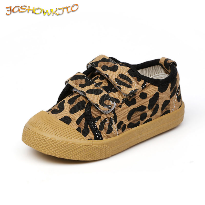 Kids Canvas Shoes Casual Sneakers Toddlers Boys Medium Girls Sports Shoes Running Fashion Soft Breathable Shoes Leopard Design