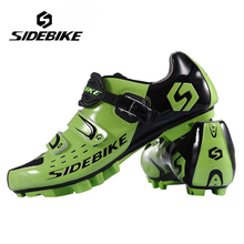 SIDEBIKE Men Women Breathable Athletic Cycling Shoes Bicycle MTB Cycling Shoes Mountain Bike Self-Locking Racing Shoes, Green sidebike men mountain bike shoes cycling road bicycle mtb shoes breathable wear resistant self locking cycling sneakers white
