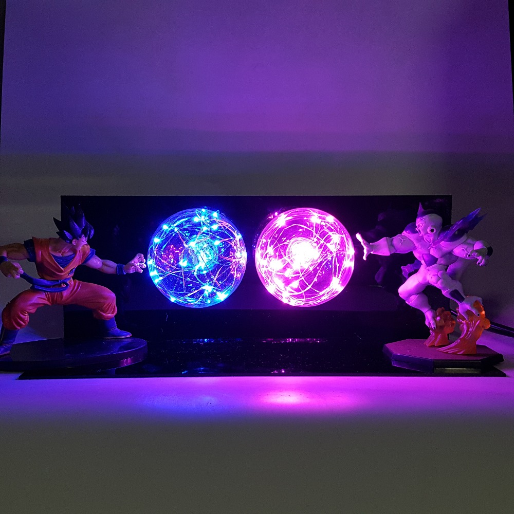 Dragon Ball Z Son Goku VS Freezer Super Saiyan Led Lampe Dragon Ball Super DBZ Led Table Lumineuse Lampe De Noël lumières