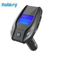 Nulaxy BF21 Samochodowy Odtwarzacz MP3 Wsparcie TF USB Disk Bluetooth Hands-free Audio Nadajnik FM Modulator Z Wyświetlaczem LCD Ładowarka samochodowa