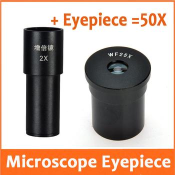 2X 25X 50X szerokokątny obiektyw optyczny 10mm pole widzenia dla mikroskop biologiczny montaż rozmiar 23 2mm tanie i dobre opinie SHANBAO Mikroskop Eyepieces NONE