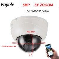 CCTV Security 5MP MINI Dome PTZ Camera 5 0MP 5 Megapixels IP Camera Pan Tilt ONVIF