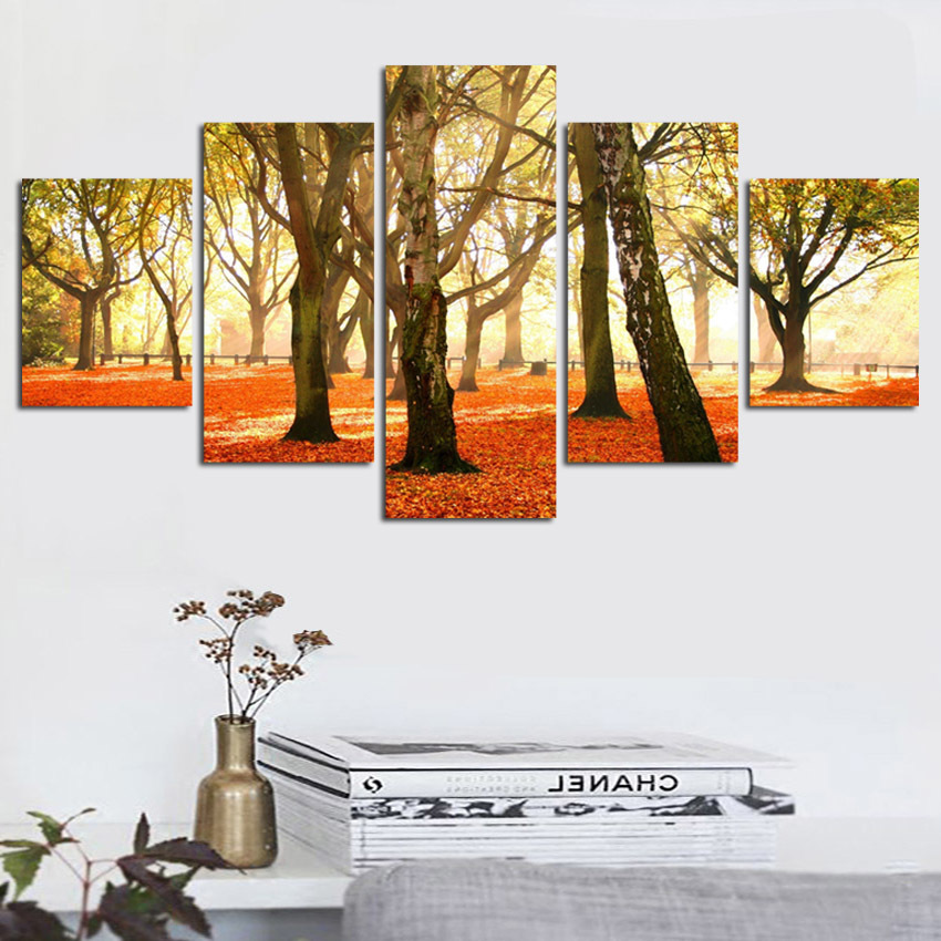 Tree Landscape Canvas Oil Painting Picture Home Decor Modular Wall Picture For Living Room No Frame Modern Prints 1
