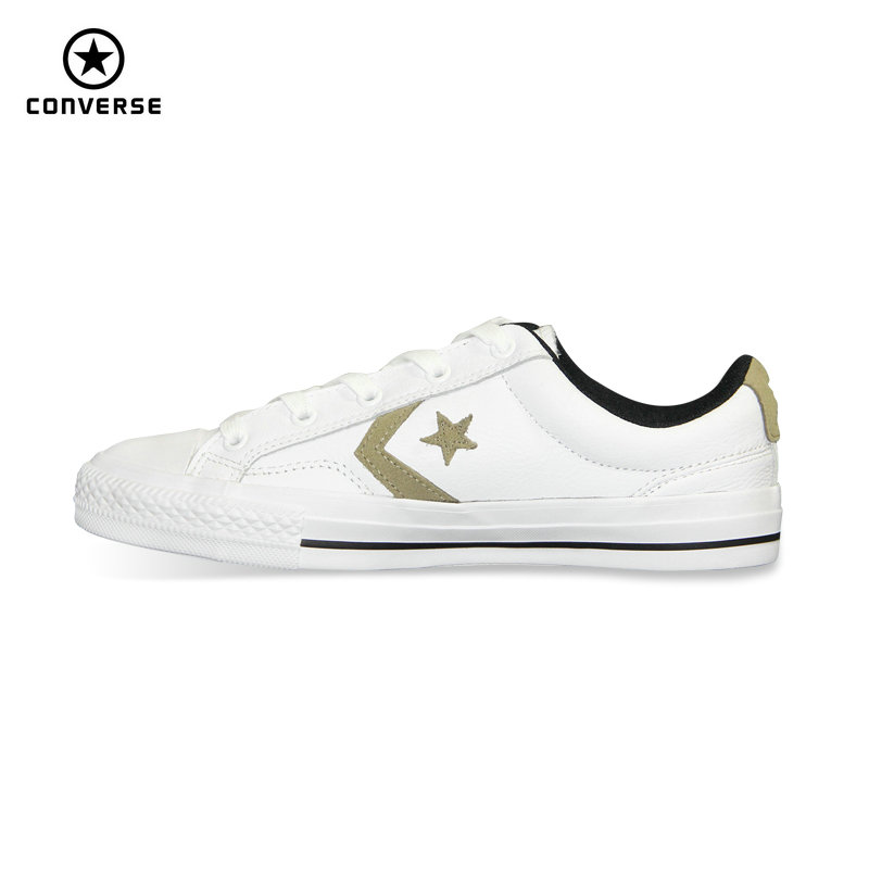 4baf8f3606b new original Converse Star Player Leather man s women s sneakers white  color Unisex Leather Skateboarding Shoes 153763C
