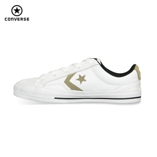 converse star player leather blancas