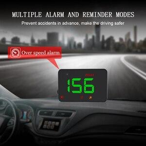Image 2 - A5 GPS Per Auto Universale HUD Head Up Display Tachimetro Digitale Su Allarme di Velocità Parabrezza Auto di Navigazione Strumento di Diagnostica