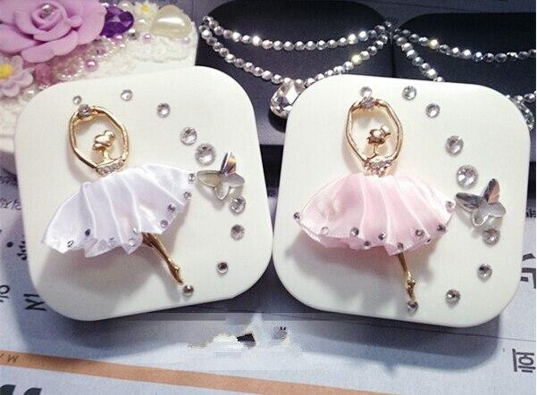LIUSVENTINA DIY slitina Diamond Ballet girl a Butterfly box pro - Příslušenství pro oděvy
