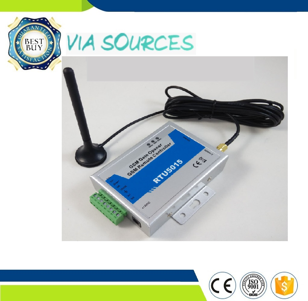 GSM SMS Gate Opener RTU5015 Mobile Phone Remote Control Switch QUAD band 850/900/1800/1900 MHz Free shipping New CL1-GSM app gsm extension antenna 3m length cable for rtu5024 rtu5015 rtu5025 cl4 gsm cl1 gsm