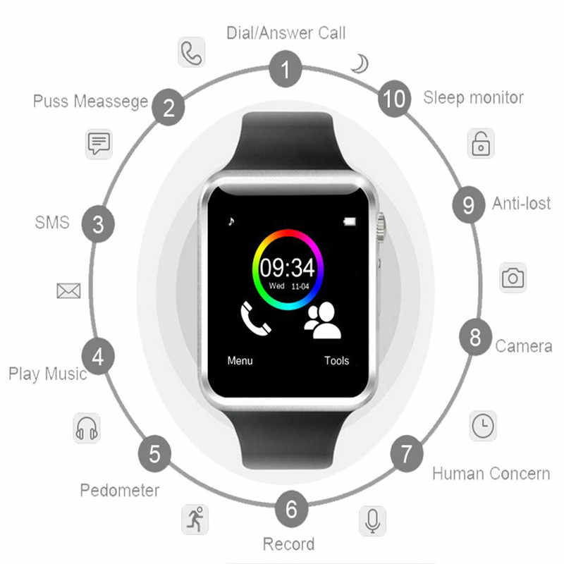 2019 TOP Smart Watch Clock Sync Notifier Support SIM TF Card Connectivity Apple iphone Android Phone Smartwatch PK GT08 U8 M2 A1