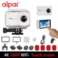 Aipal Action Camera 4K/30fps 2.45″ Touch Screen Ultra HD Wifi Sports DV 16MP 170D 1080P Waterproof Mini Cam Sport Camera.