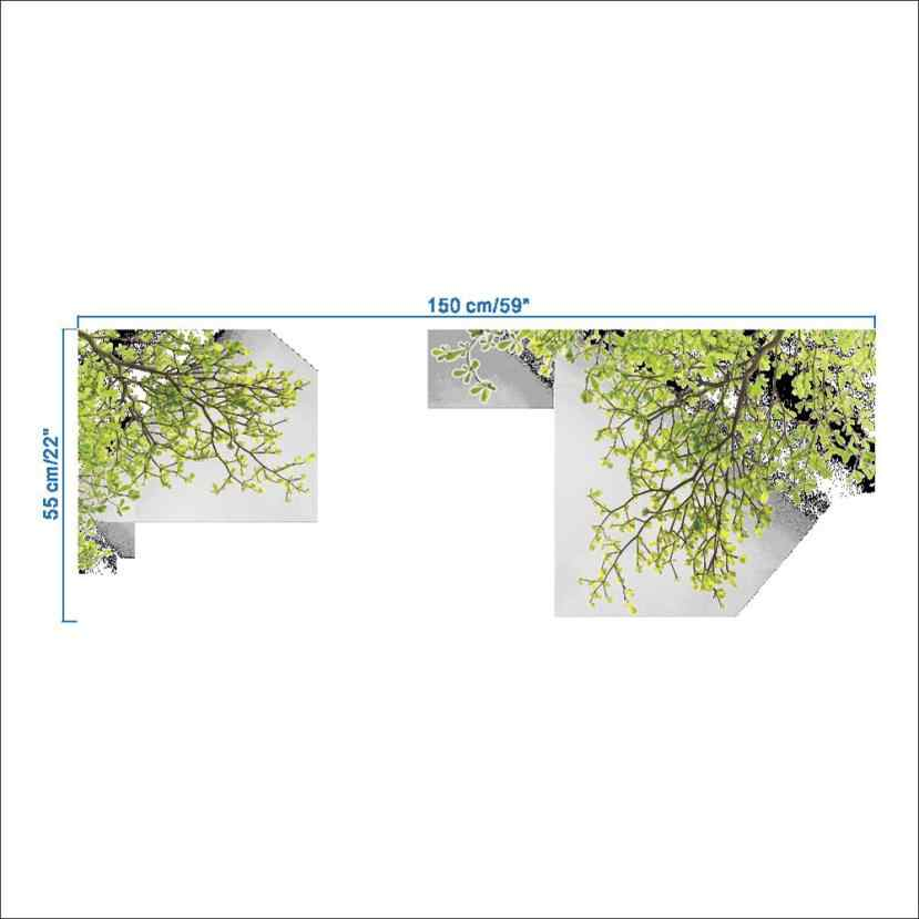 Гостиная ТВ фоновая Наклейка на стену зеленое дерево ветка свежий стиль наклеиваемый постер 60*90 см наклейка на стену s натуральный лист Aug10