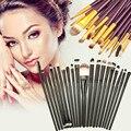 20 pcs Jogo de Escova Maquiagem Sobrancelha Sombra Em Pó Fundação Contorno Labial Corretivo