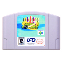 N64Game Супер Боулинг видеоигры картридж Консоли Карты Английская литература США Версия