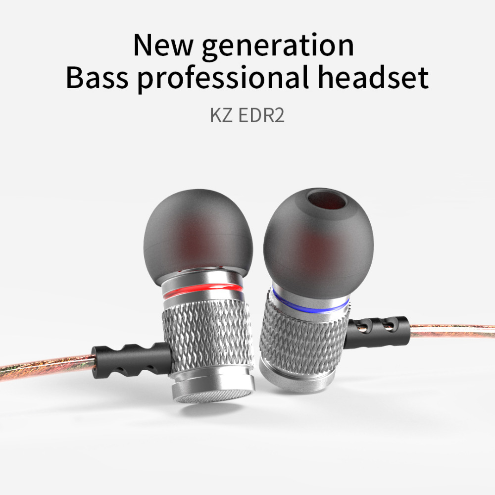Original KZ EDR2 In Ear Earphone Strong Bass Metal Clear Sound Music 3.5mm Wired Hifi Headset Enthusiast Special Use Earbuds