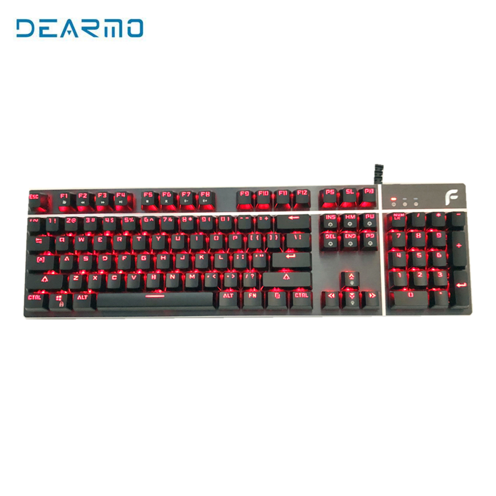 цена на DEARMO 104key Backlight Gaming Wired Mechanical Keyboard LK Axis with 100 Million Clicks Long Key Life for Computer Laptop Gamer