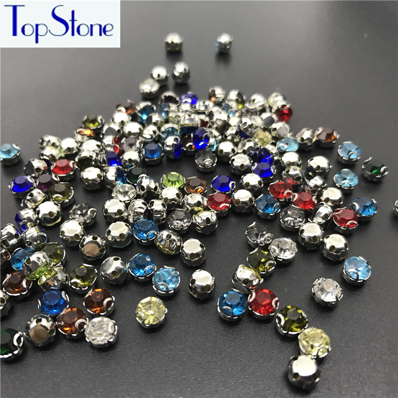 6ff1d7166a ⑧All Colors 1440pcs ss16 ss20 Sew On D Claw Rhinestones Glass ...