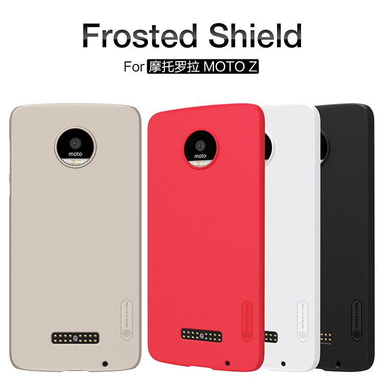 imágenes para 10 unids/lote Al Por Mayor de NILLKIN Súper Frosted Shield Case Para Motorola Moto Z de 5.5 pulgadas Con El Regalo Protector de Pantalla
